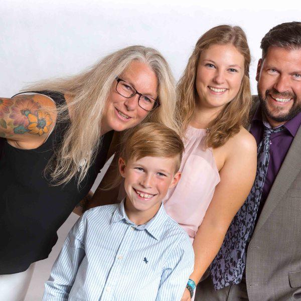 Familienfoto vom Abiballfotgrafen